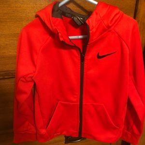 Toddler Nike zippered sweatshirt.
